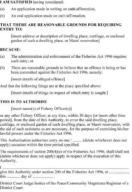 Fisheries Act 1996 No 88 As At 01 October 2009 Public Act New